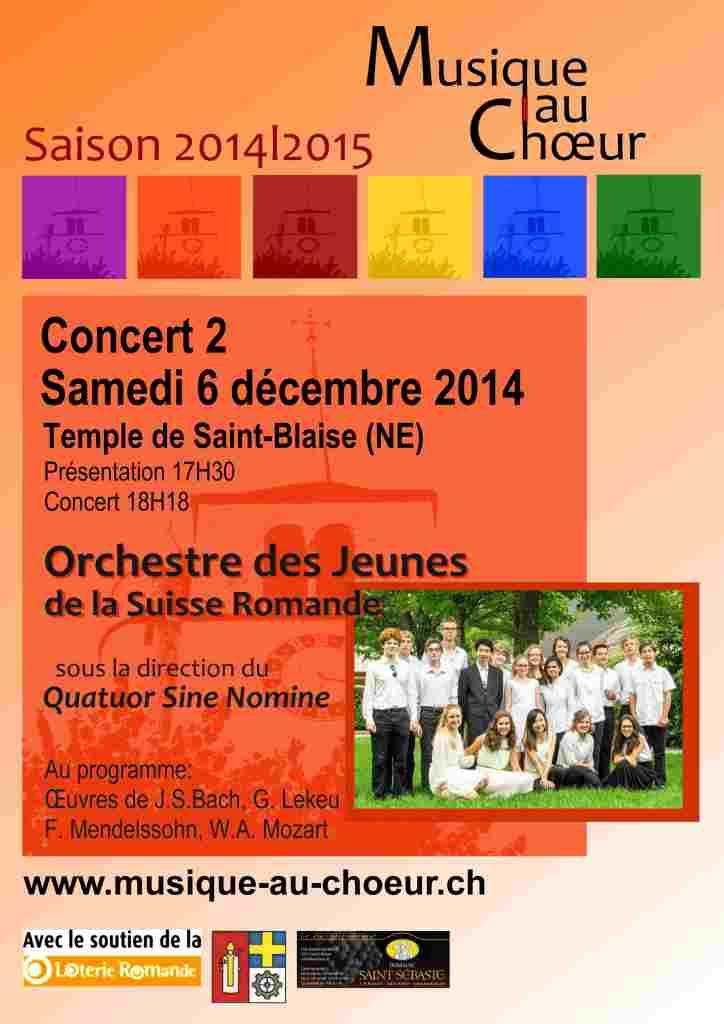 Affiche Concert 2- Saison 2014|2015