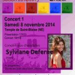 Affiche Concert 1- Saison 2014|2015